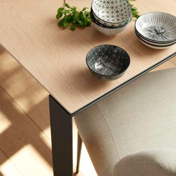 Table en bois massif et pieds en métal - Oxford Mobitec® - 3