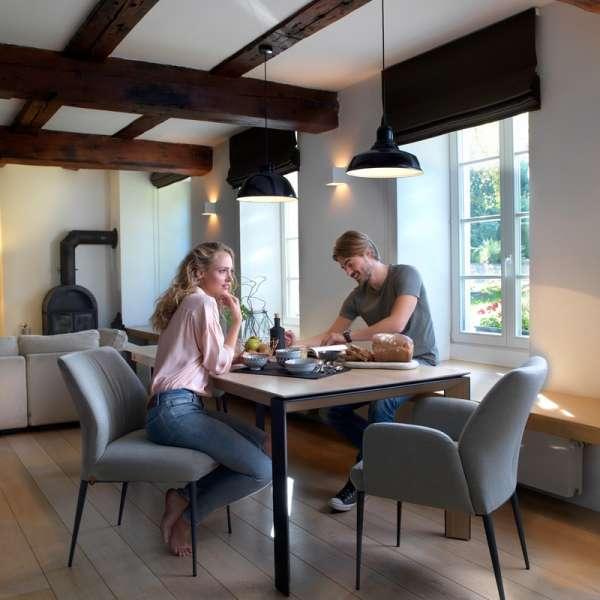 Table chaleureuse en bois et pieds en métal - Oxford Mobitec® - 10