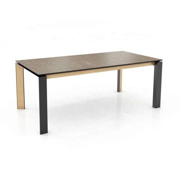 Table en céramique bois naturel et métal noir - Oxford Mobitec® - 1
