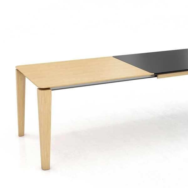 Table avec rallonge en bois et stratifié noir - Oxford Mobitec® - 2