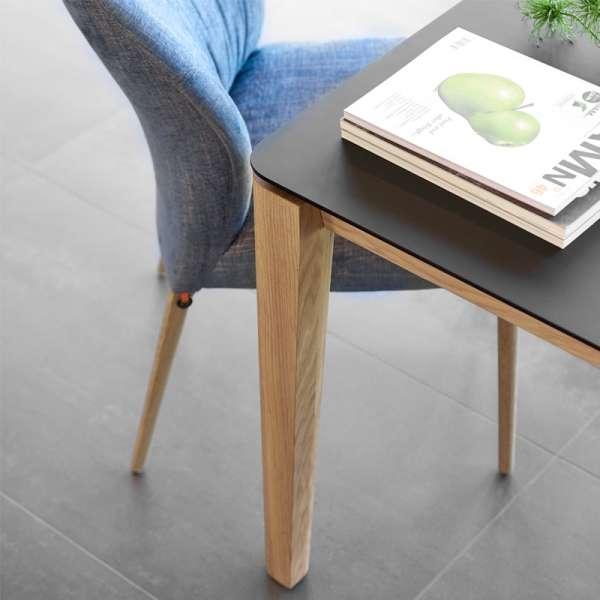 Table en stratifié et pieds en bois marron arrondies - Oxford Mobitec® - 4