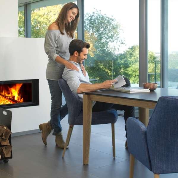 Table moderne avec plateau en stratifié Fénix et pieds en bois - Oxford Mobitec® - 5