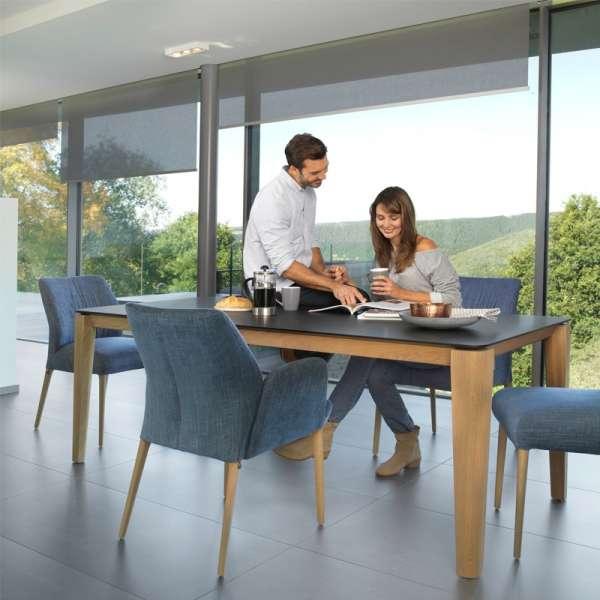 Table moderne avec allonge en bois et stratifié Fénix - Oxford Mobitec® - 7