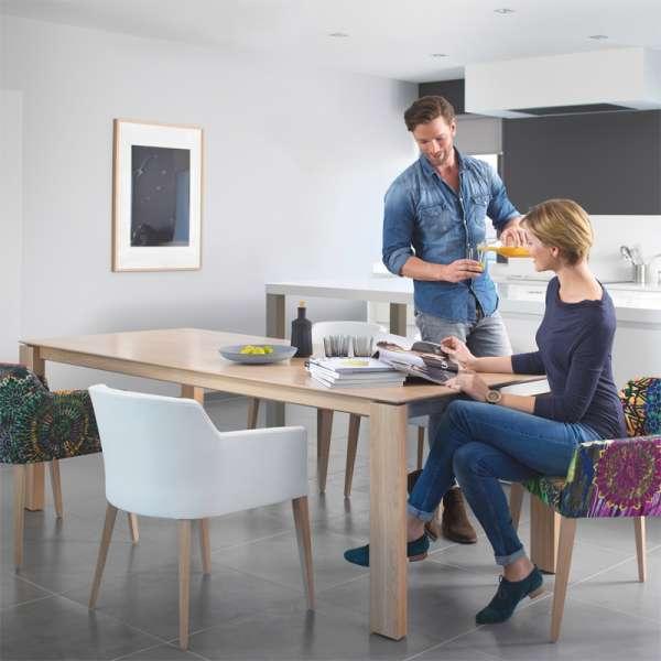 Table avec allonge papillon en bois - Oxford Mobitec® - 7