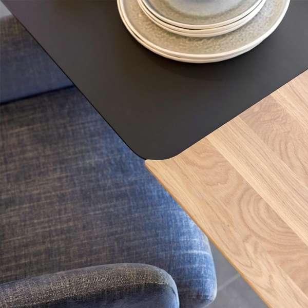Table contemporaine extensible en stratifié Fénix et bois - Oxford Mobitec® - 4