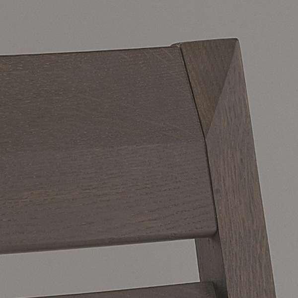Chaise en bois massif et tissu  - 2
