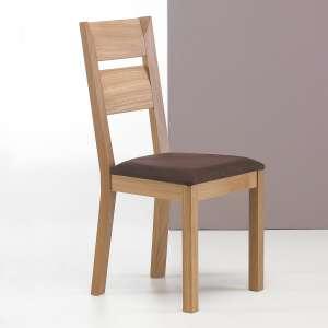 Chaise fabriquée en France en bois massif et tissu marron