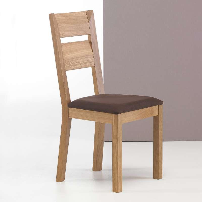Chaise en bois et tissu fabriquée en France Noémie