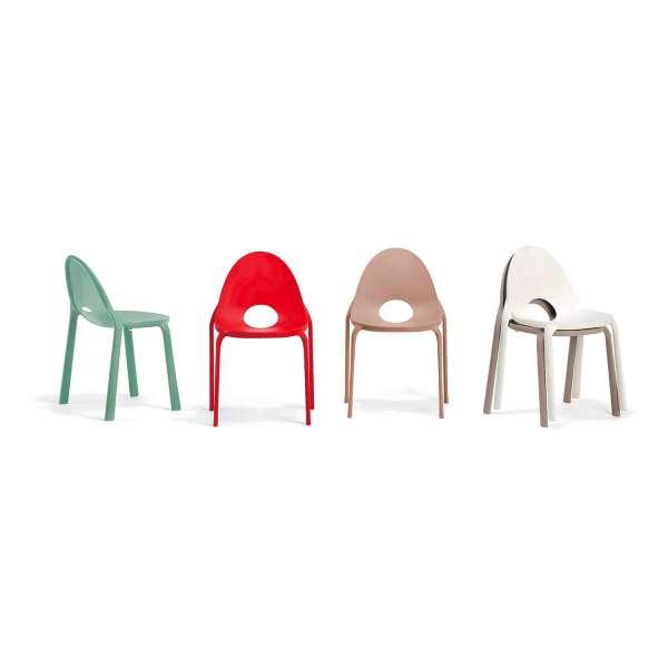 Chaise d'extérieur en polypropylène Drop Infiniti® - 1