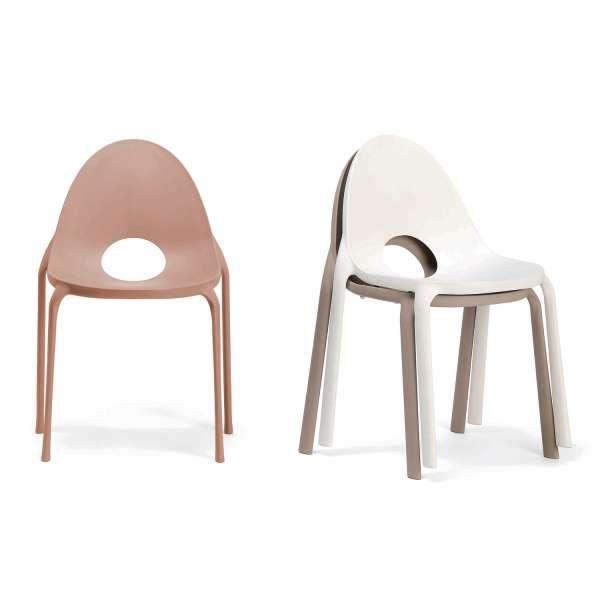 Chaise d'extérieur en polypropylène sable- Drop Infiniti® - 3