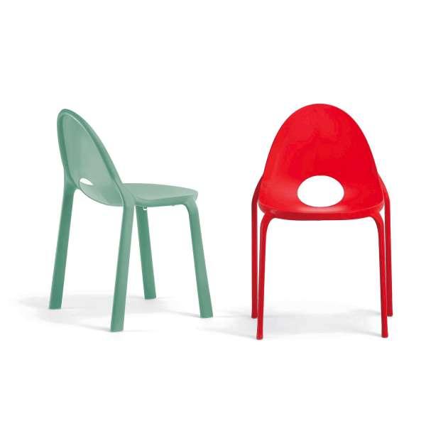 Chaise d'extérieur en polypropylène rouge - Drop Infiniti® - 2