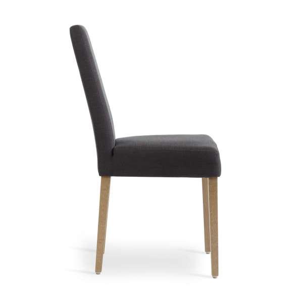 Chaise en tissu noir rembourrée confortable - Sammy Mobitec - 3
