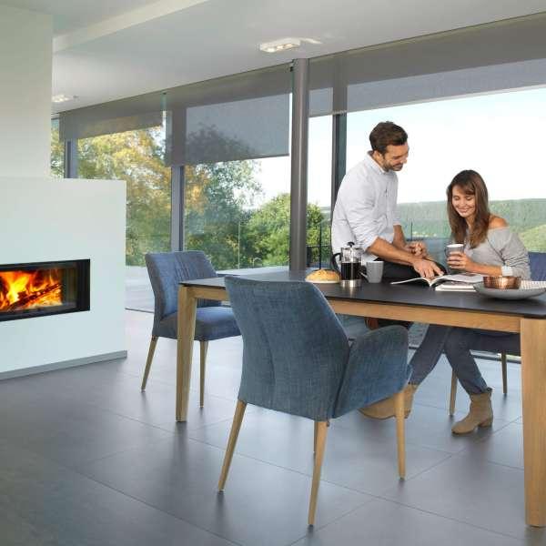Chaise scandinave en tissu blanc pieds en bois massif - Enora Mobitec® - 7