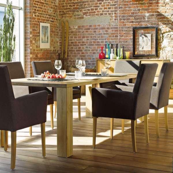 Fauteuil de salle à manger en tissu noir et pieds en bois - Vigo Mobitec - 10