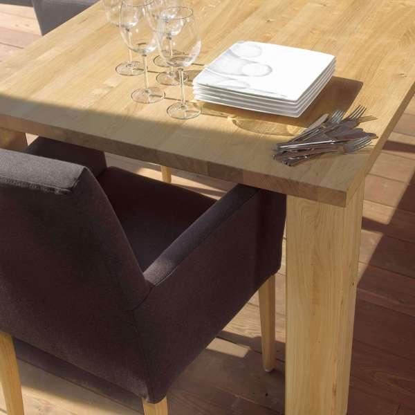 Fauteuil de salon en tissu gris en hêtre massif - Vigo Mobitec - 12