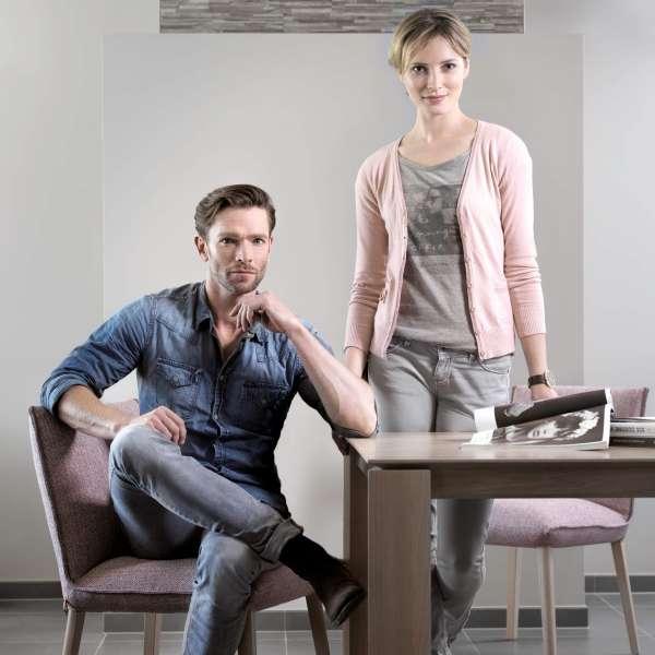 Chaise rembourrée en tissu gris et hêtre massif- Soft Mobitec® - 6