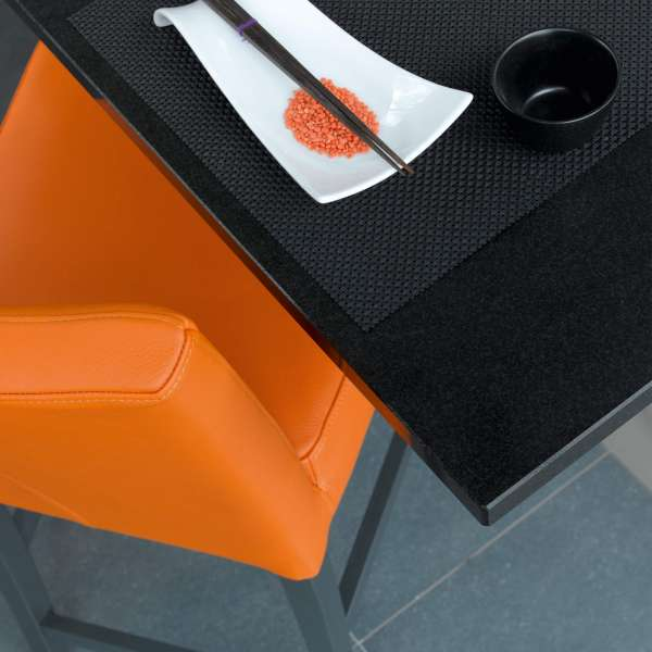 Tabouret orange pour table de 90cm de hauteur - Shelly Mobitec - 5