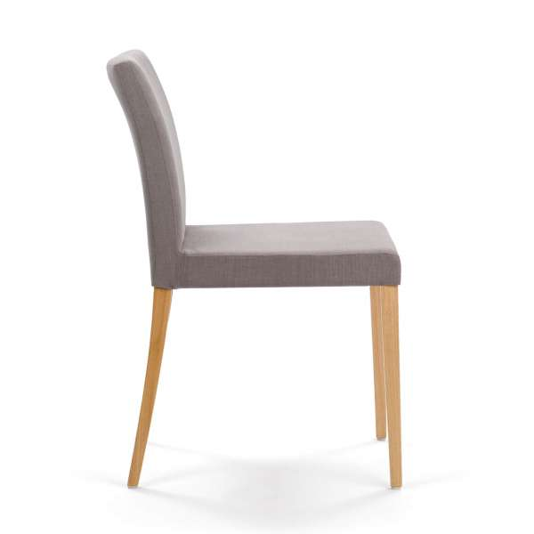 Chaise moderne en chêne massif et tissu gris - Slim Mobitec - 3
