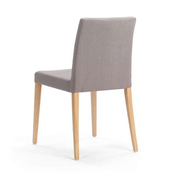 Chaise grise en tissu et pieds en bois clair - Slim Mobitec - 4