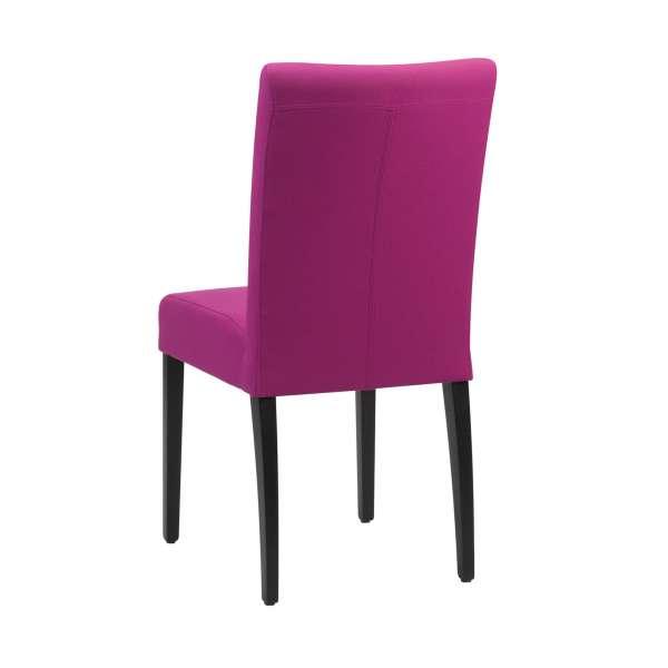 Chaise rembourrée en tissu rose et pieds noirs - Shanna Mobitec® - 4