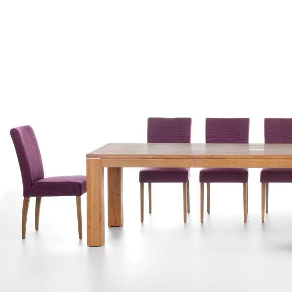 Chaise de salle à manger confortable violet et noir - Shanna Mobitec® - 5