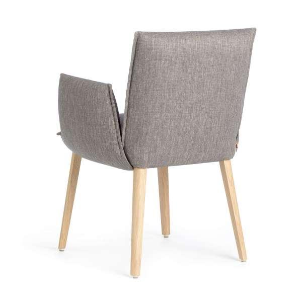 Chaise avec accoudoirs rembourrée grise - Soft Mobitec® - 4