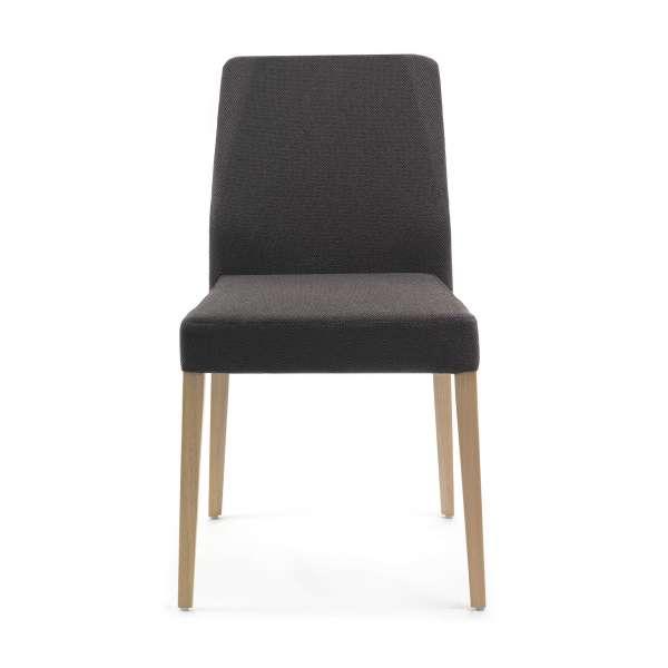 Chaise Mobitec en tissu noir et pieds en bois massif - Kenzie - 2
