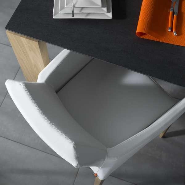 Fauteuil de salle à manger en synthétique et pieds en bois - Kenzie Mobitec® - 3