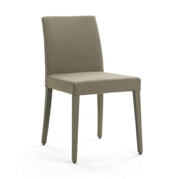 Chaise en tissu gris avec pieds gainés - Slim Cover Mobitec® - 2