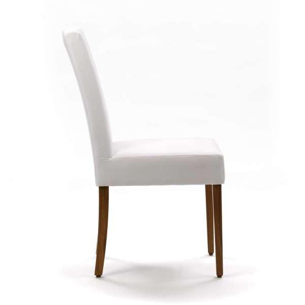 Chaise contemporaine en hêtre massif et synthétique blanc - Vigo Mobitec - 3