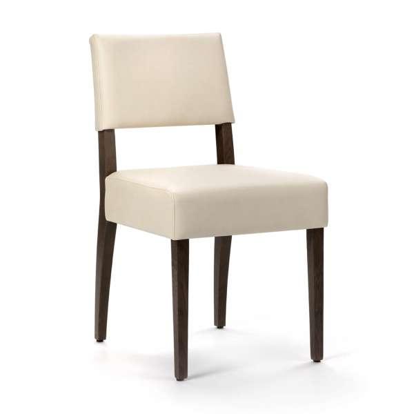Chaise confortable avec pieds en noyer massif et synthétique- Brindisi Mobitec® - 1