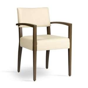 Fauteuil de salon blanc en bois et synthétique - Brindisi Mobitec®