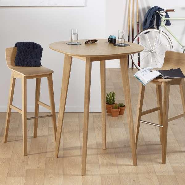Table hauteur 110 cm style scandinave en bois massif fabrication française - S8 - 1
