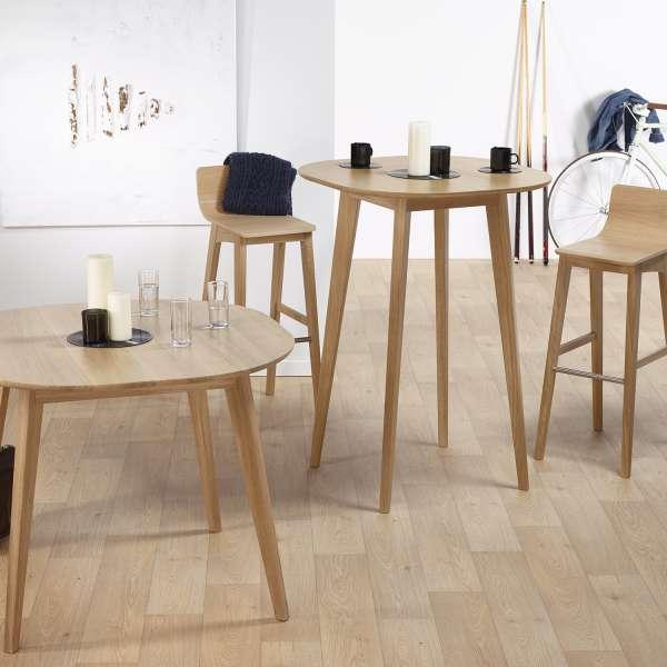 Table de bar style scandinave en bois massif fabrication française - S8 - 3
