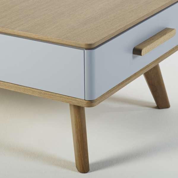 Table basse avec deux tiroirs 120 x 60 cm fabriquée en France - Paul 600 - 2