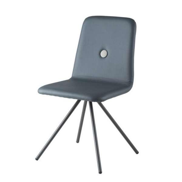 Chaise personnalisable en synthétique et pieds en métal - Nio - 3