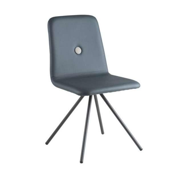 Chaise italienne en synthétique et pieds en métal noirs - Nio - 4