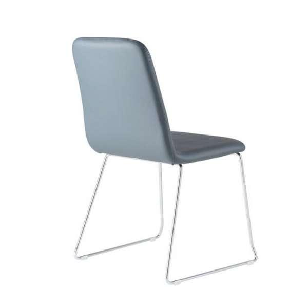Chaise italienne personnalisable en synthétique et pieds en métal - Nio - 6