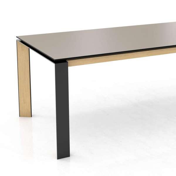 Table moderne en céramique bois naturel et métal noir - Oxford Mobitec® - 2
