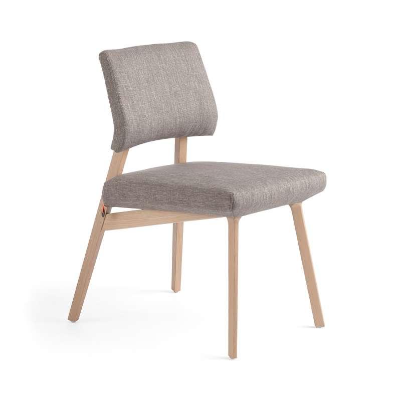 Chaise style scandinave en tissu et bois Lindsay Mobitec®