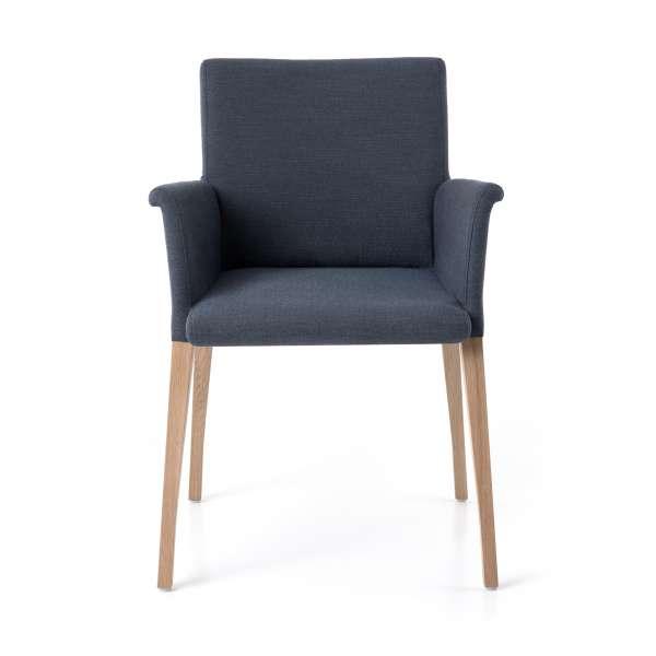 Fauteuil en tissu gris et bois massif - Pure classic Mobitec® - 3
