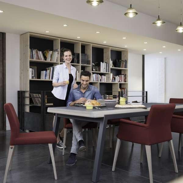 Fauteuil de séjour confortable en bois et tissu - Pure classic Mobitec® - 5