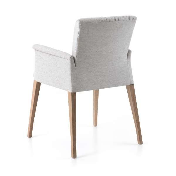 Fauteuil confortable cosy blanc en bois et tissu - Pure comfort Mobitec® - 4