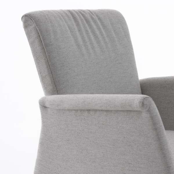 Fauteuil Mobitec blanc en tissu et bois massif  - Pure comfort - 5