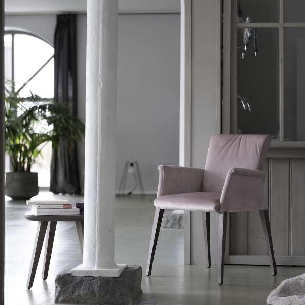 Fauteui de salle à manger rose en bois et tissu - Pure comfort Mobitec® - 6