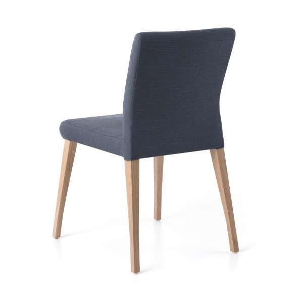Chaise déhoussable en tissu gris et pieds en bois clair - Pure classic Mobitec® - 4