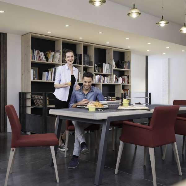 Chaise de salle à manger en tissu rouge - Pure classic Mobitec® - 5