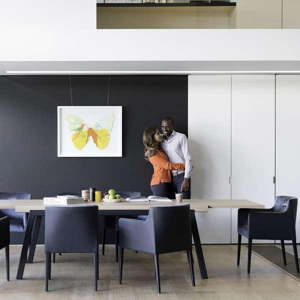 Table en bois extensible avec pieds en métal moderne- London Mobitec® - 3