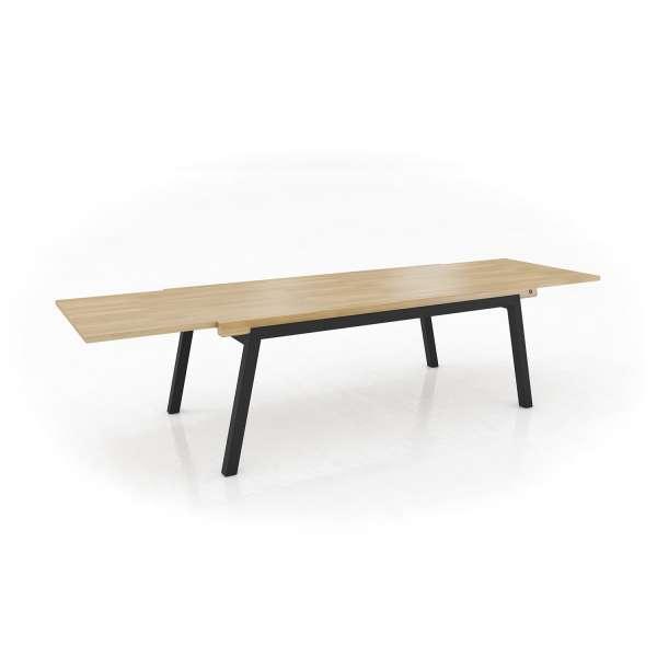 Bois Moderne Table Extensible London En Avec Pieds Métal Mobitec® ChQrdtsx