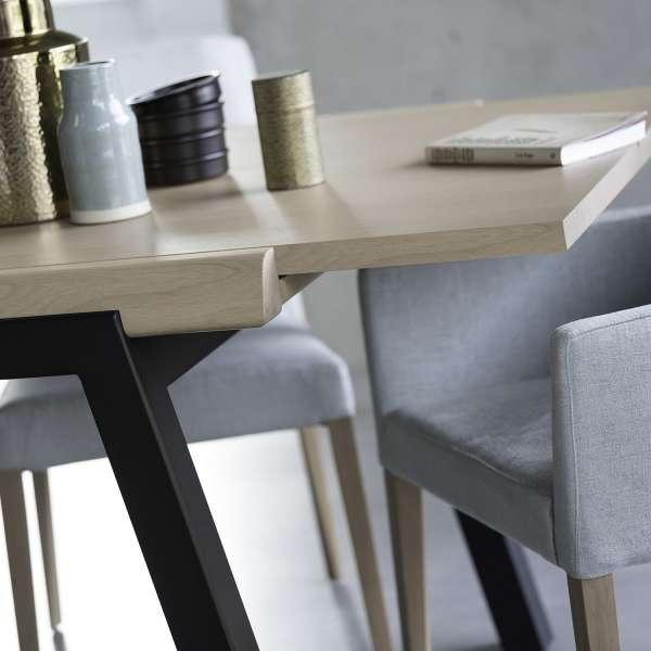 Table extensible moderne plateau en bois et piétement métallique - London Mobitec® - 7